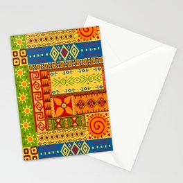 African Symbol Pattern Stationery Cards