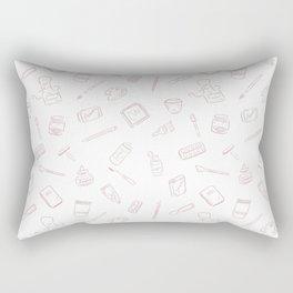Art Supplies Rose Rectangular Pillow