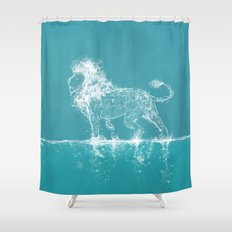 The Water Lion Shower Curtain