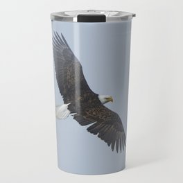Soaring - Bald Eagle and Blue Sky Travel Mug