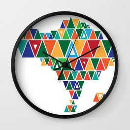 Geometric-Bali Wall Clock