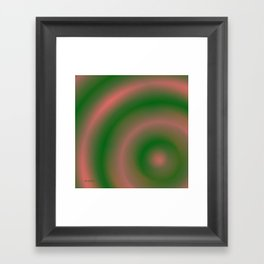 Green and Pink Framed Art Print