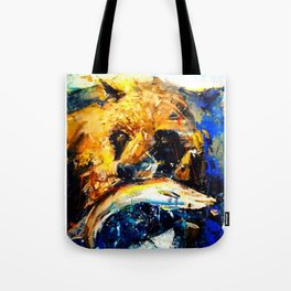 Gon' Fishin. brown. bear. fishing. wildlife. Tote Bag