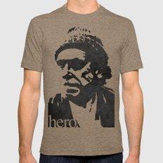 Charles Bukowski - hero. LARGE Tri-Coffee Mens Fitted Tee