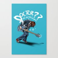 doctor Canvas Prints featuring Doctor?? by Onebluebird
