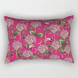 Red clover pattern Rectangular Pillow