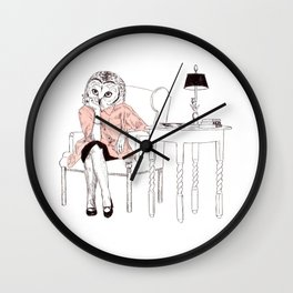 Bestial lonely lady Wall Clock