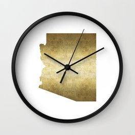 arizona gold foil state map Wall Clock