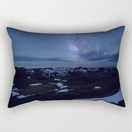 The Bluest Night Falls Rectangular Pillow