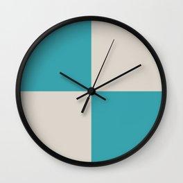 Nautical Flag, Letter U (Sea Turquoise, Cream) Wall Clock