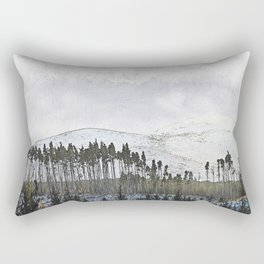 Loch,trees and mountains, Scottish Highlands Rectangular Pillow