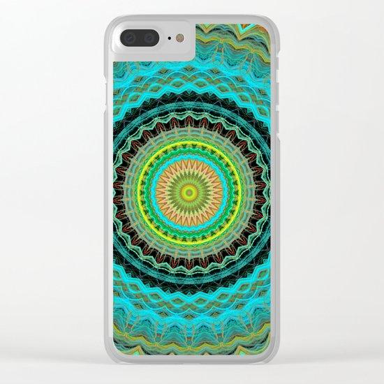 Bliss Mandala Clear iPhone Case