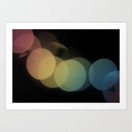 Rainbow Bokeh Art Print