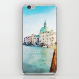The Pier of Venice watercolor iPhone Skin