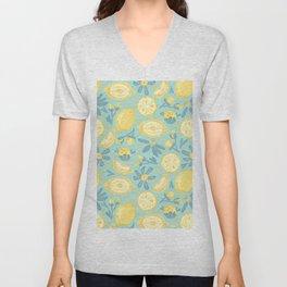 Lemon Pattern Mint Unisex V-Neck