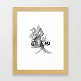 KungFu Zodiac - Dragon Framed Art Print