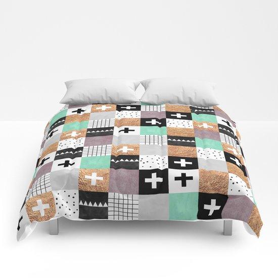 Squares 001 Comforters