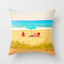 The beach Life Throw Pillow