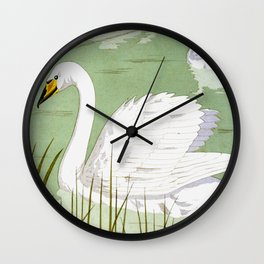 Cygne sauvage B Wall Clock