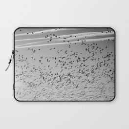 The Birds (Black and White) Laptop Sleeve