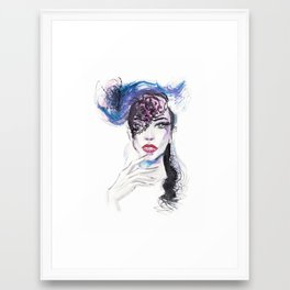 Fashion portrait Framed Art Print