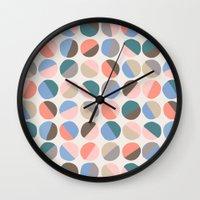 pills Wall Clocks featuring Serenity pills by Alexandra Aguilar