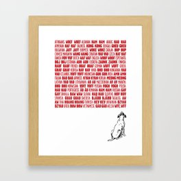 It's a dog's world Framed Art Print
