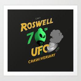 70th Anniversary Commemorative Graphic Art Print