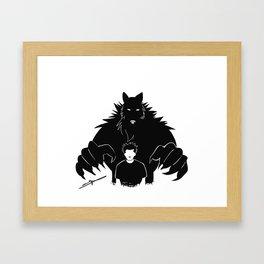Beast in me Framed Art Print