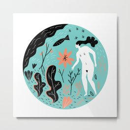 I found a little plot of land in the garden of eden Metal Print