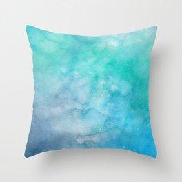 Underwater Galaxy Throw Pillow