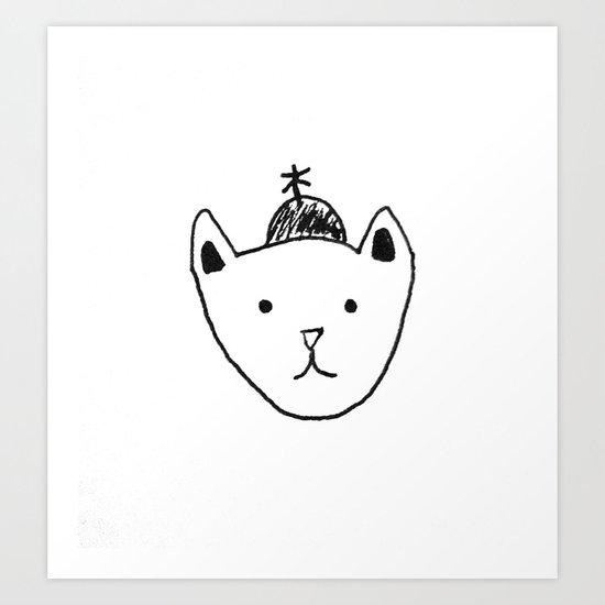 Being Fancy in a Hat Art Print