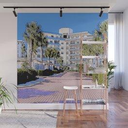 Sunset House illustration Marco Island, Florida Wall Mural