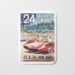 Le Mans 1962 vintage poster, Le Mans t-shirt, Le Mans poster Bath Mat