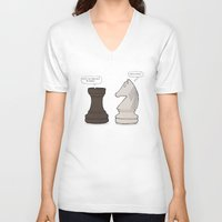 chess V-neck T-shirts featuring Chess by rich_hood