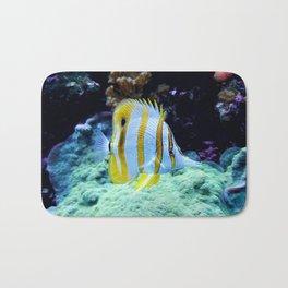 Beautiful Yellow Butterfly Fish Bath Mat
