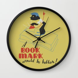 Book Mark Wall Clock