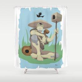 Bird Keeper Shower Curtain