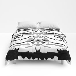 Artistic bat in the darkness , Abstract, art, Gray, black,  graffity, points, bat Comforters
