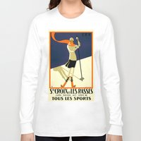 sports Long Sleeve T-shirts featuring LES SPORTS by Kathead Tarot/David Rivera
