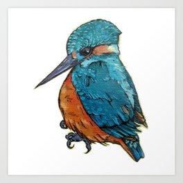 L'il Lard Butt - The Kingfisher Art Print