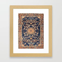 Sarouk Persian Floral Rug Print Framed Art Print