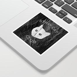 Stray Cat Club Black Background Sticker
