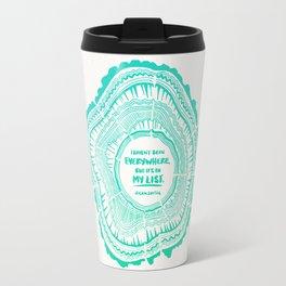 My List – Turquoise Ombré Travel Mug