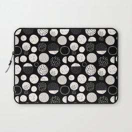 black and white funky dots Laptop Sleeve