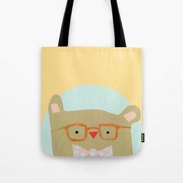 Bear in Specs Tote Bag