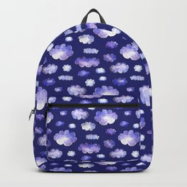 Blue clouds pattern Backpack