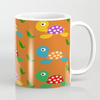 turtle Mugs featuring turtle by vitamin