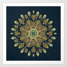 Gardenia Window Mandala Art Print