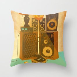 RECORD ROOM Throw Pillow